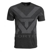 Vortex Charcoal Heather Oversize Logo T-shirt Maat XL